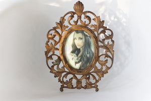 Antique Iron Cast Victorian Oval Frame