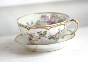 Antique Haviland France Tea Cup Set