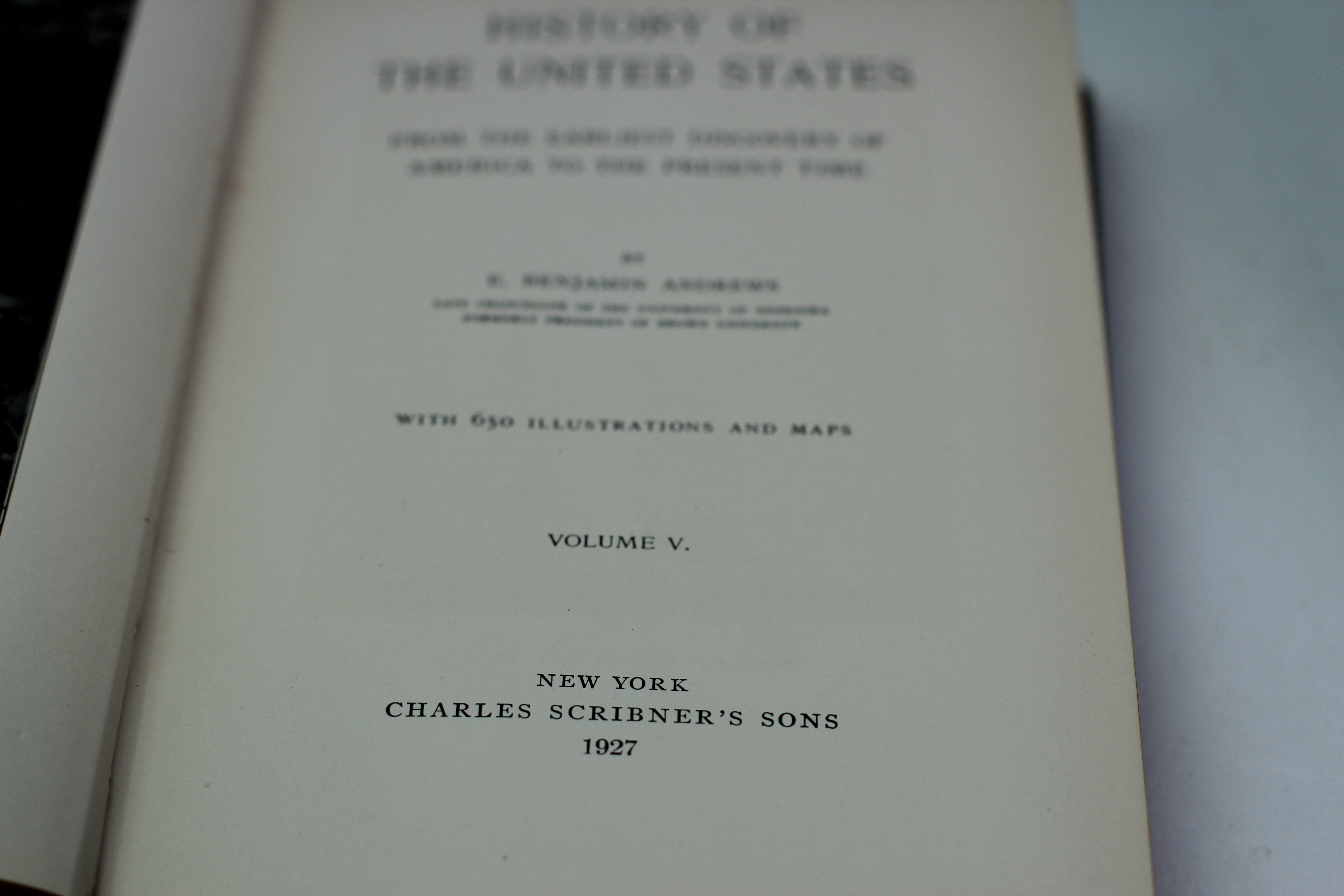 Antique Book, History of the United States, 1927, Hardback