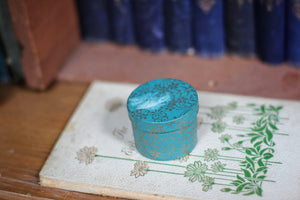 Antique Rustic Turquoise Cardboard Ring Box
