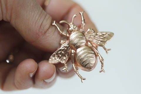 One-of-a-Kind Honey Bee Brooch