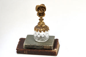 Antique Tall Floral Perfume Bottle