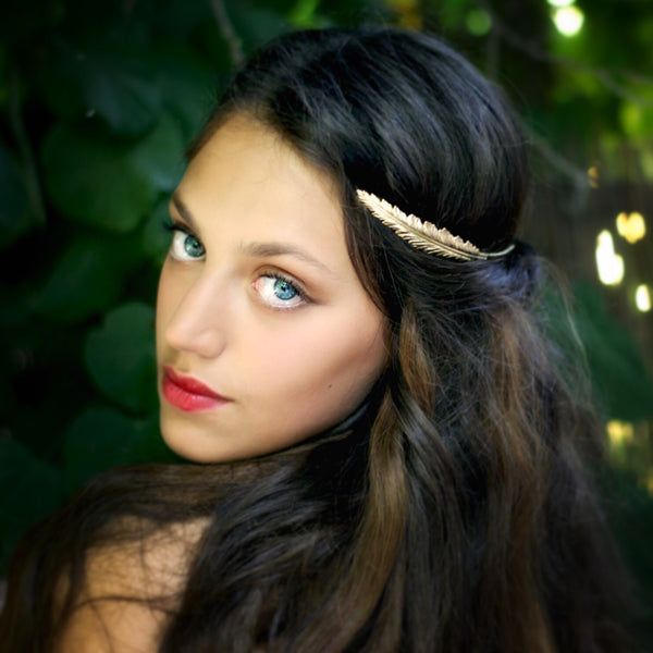 Discounted version- Indian Feather Goddess Headband