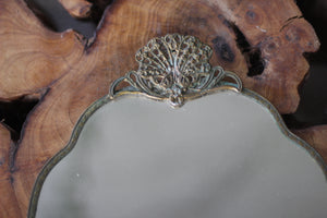 Antique Oxidized Filigree Mirror Tray