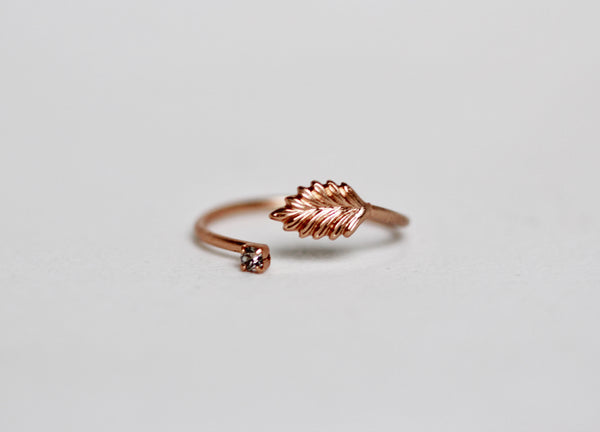 Anastasia Crystal Leaf Ring