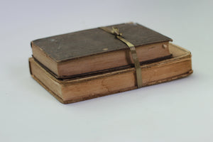Two Antique Books Hardback Brown Colors