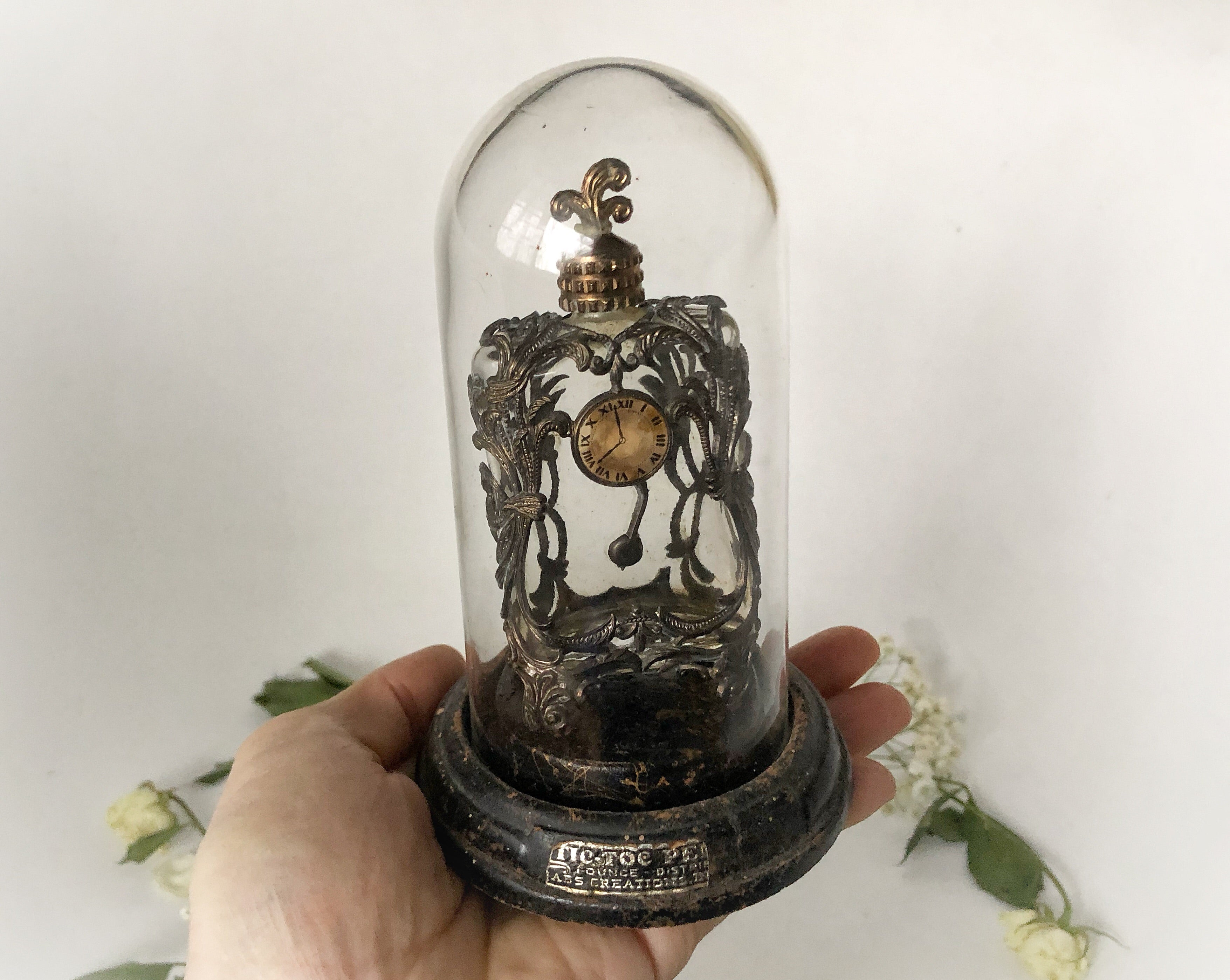 Antique Dome Clock Perfume Bottle
