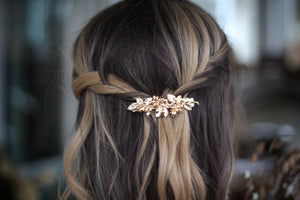 Blooming Rose Buds Barrette