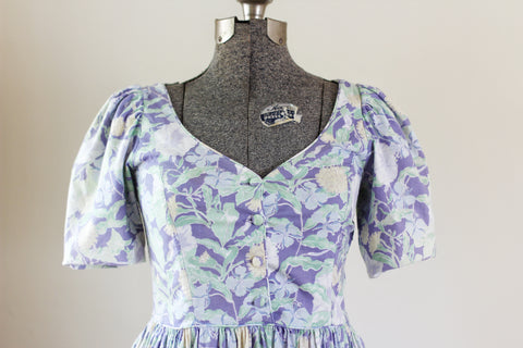 Vintage Floral Lilac Laura Ashley Dress