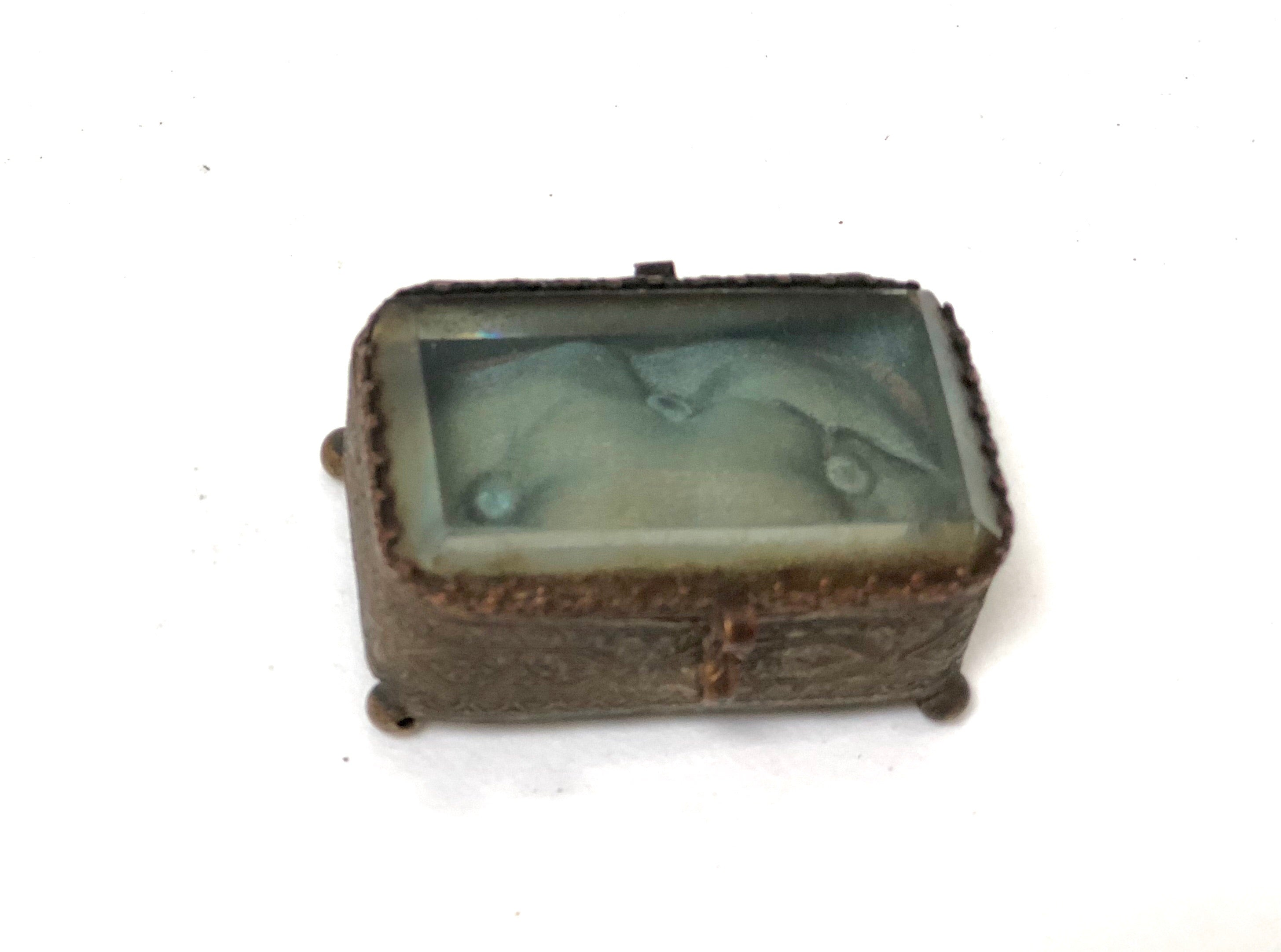 Antique Miniature Victorian Jewelry Box