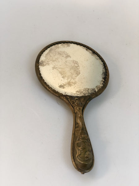 Petite Thistle Floral Hand Mirror