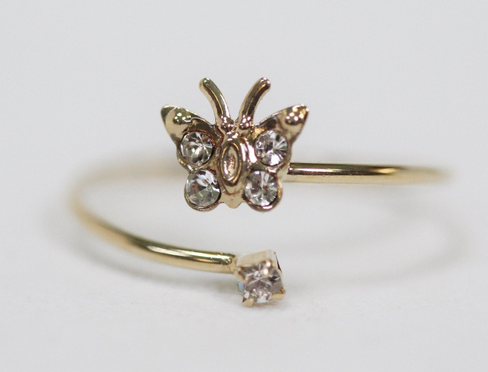 Butterfly Crystals  Ring