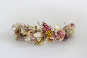 Pink Blossom Dried Flowers Wreath