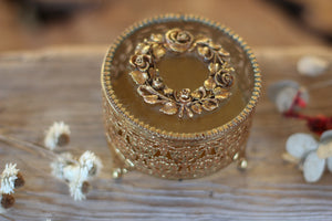 Antique Rounded Floral Wreath Jewelry Box