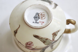 Antique Japanese Flowers Tea Cup