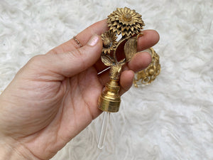 Antique Filigree Sunflower Matson Perfume Bottle