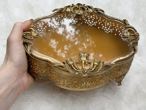 Antique Filigree Tulip Jewelry Box