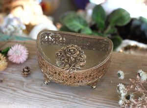 Antique Stylebuilt Floral Jewelry Box