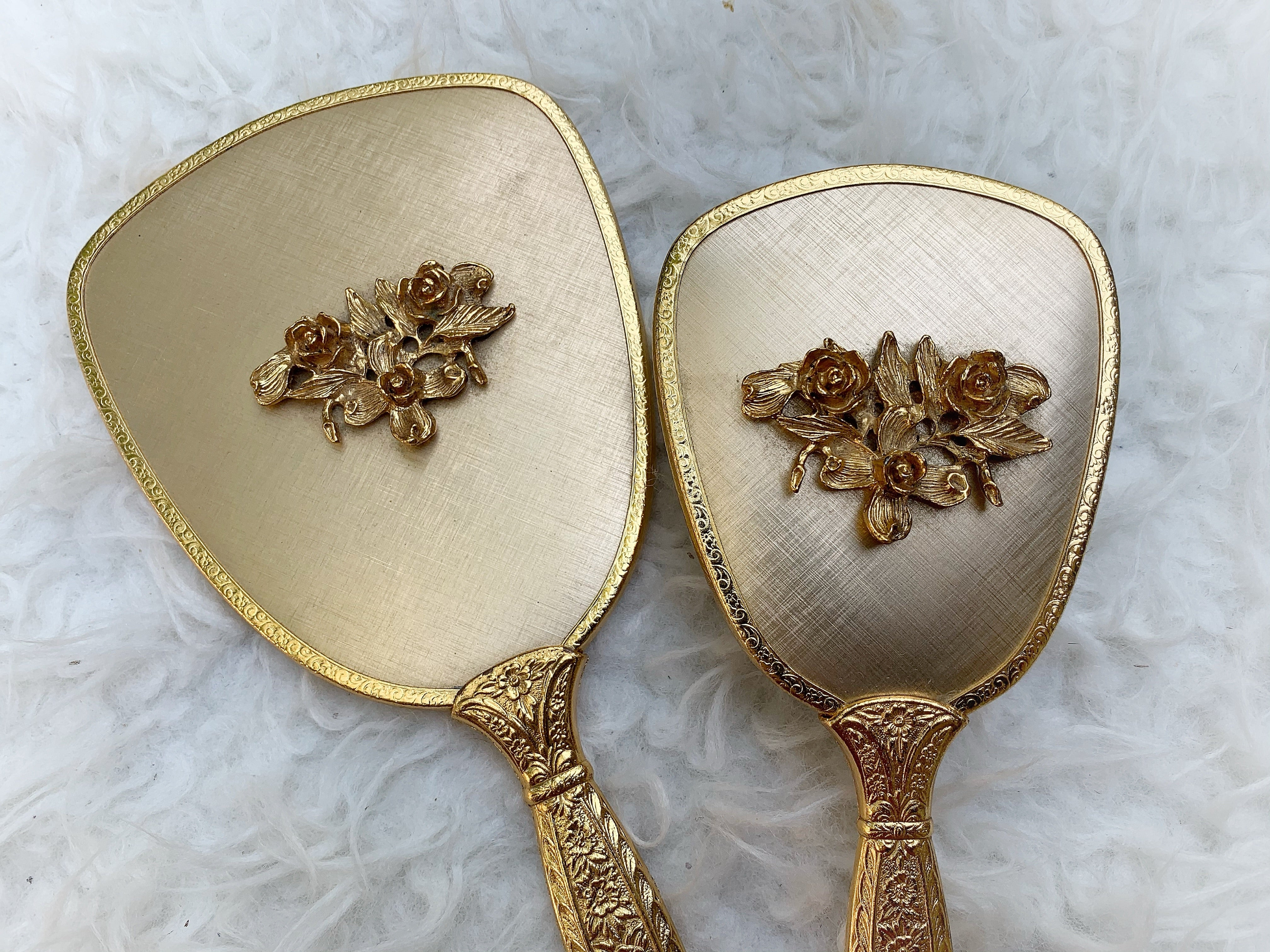 Antique Floral Vanity Set