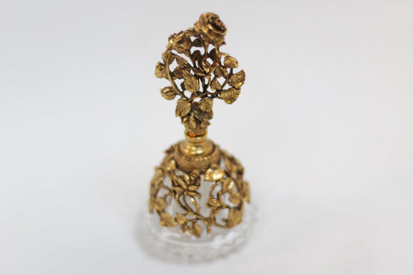 Antique Gold Tint Matson Perfume Bottle