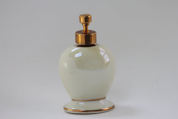 Antique Floral Porcelain Perfume Bottle