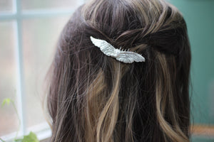 Winged Swan Hair Comb