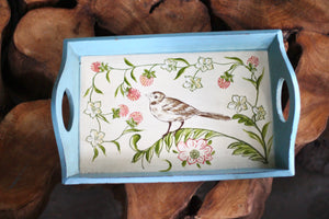 Antique Wood Bird Tray