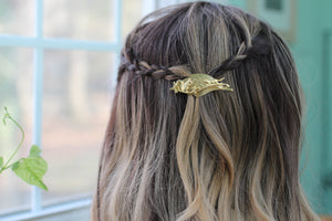 The Mink And The Squirrel Barrette