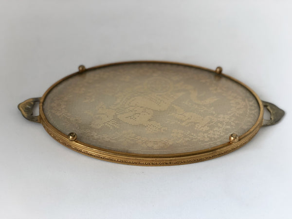 Antique Lace Doily Tray