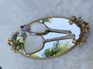 Antique Ivy Leaves Mirror Tray