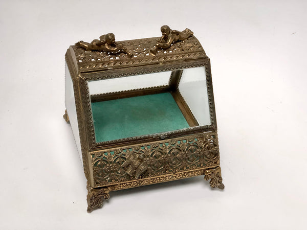 Antique Dov & Angeles Turquoise Jewelry Box