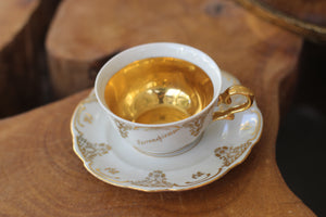 Antique Gold Bavaria Cup & Saucer