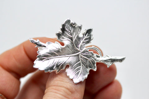 Fig Leaf & Branch Brooch
