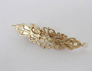 Small Lace Marquise Clip
