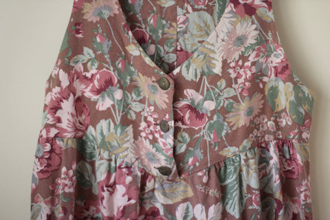 Vintage Floral Brown Laura Ashley Dress