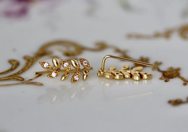 Twigs Crystals Studs