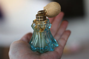 Vintage Irice Green Atomizer Perfume Bottle