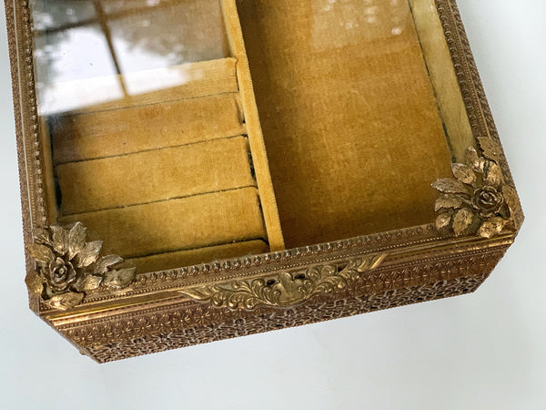 Antique French Victorian Large Jewelry Box