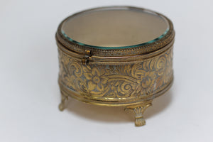 Antique Rounded Footed Jewelry Box