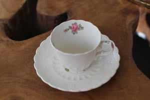 Antique Floral Spode Jewel Copeland Cup & Saucer