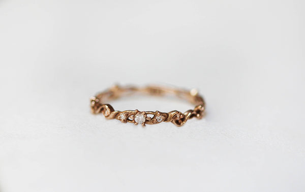 Swirly Floral Loops Diamonds Ring
