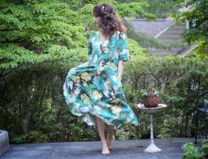Vintage Green Floral Carol Anderson Dress