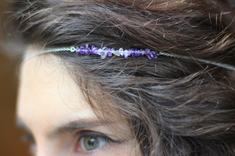 Amethyst Hair Chain