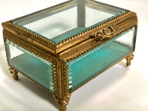 Antique Turquoise Jewelry Box
