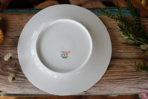 Vintage Limoges France Ivy Leaves Porcelain Salad Plate
