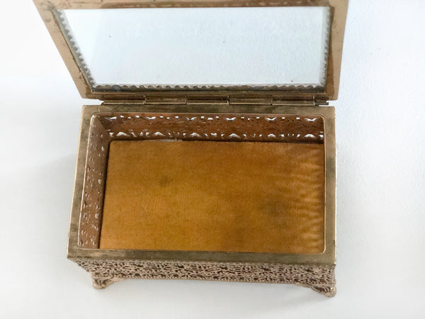 Vintage Lace Bronze Jewelry Box