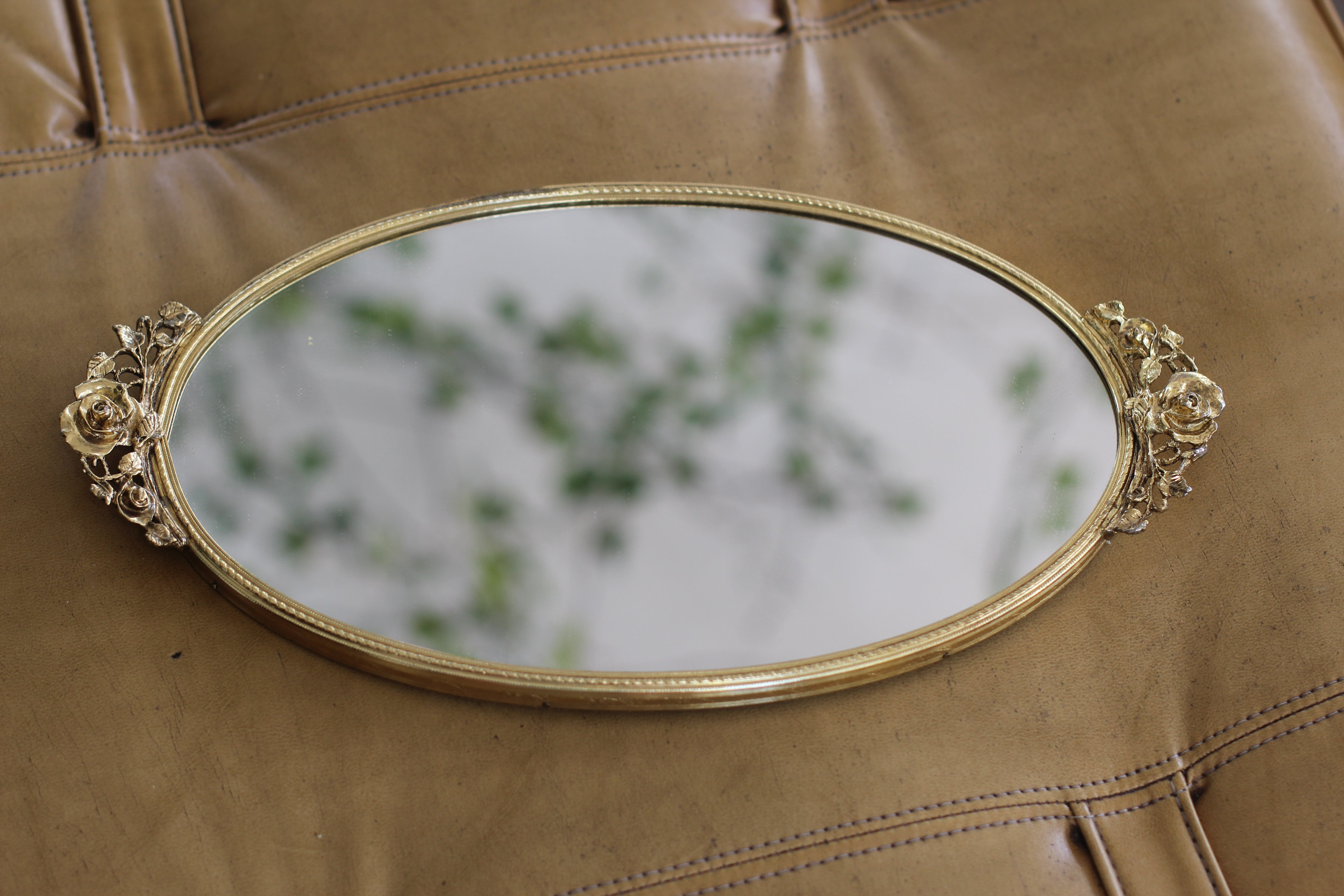 Antique Roses Stylebuilt Mirror Tray