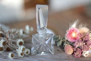 Antique Crystal Glass Perfume Bottle
