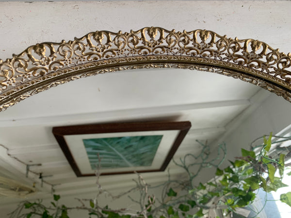 Lace Antique Mirror Tray