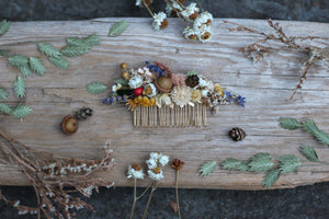 Athena Dried Flowers Hair Comb